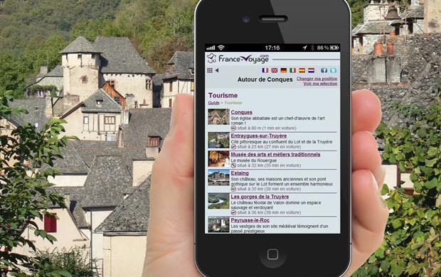 Guía turística para móviles